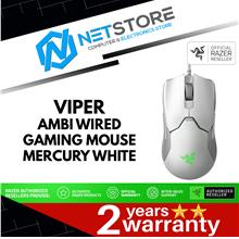 Razer Viper Ultralight Ambidextrous Wired Gaming Mouse (Mercury White)