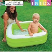 INTEX Inflatable Play Box Baby Pool Square 85x85x23cm 57100 (Green)