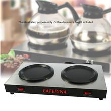CAFERINA Coffee Warmer Dual Electric Hot Plate 176W Kitchen Appliances