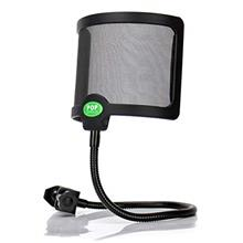 Techson Pop Filter, Microphone Dual Layered Wind Pop Screen, Studio Mic Shield