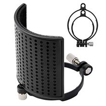 Pop Filter, Moukey [Upgraded Three Layers] Metal Panel & Metal Mesh & Advanc
