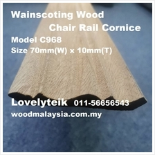 Model C968 Kayu Wainscoting Wood Cornice English Wood Border