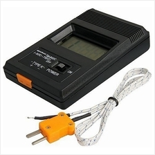 K Type Digital LCD Thermometer + Thermocouple Probe