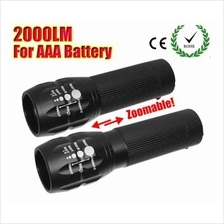 Zoomable LED flashlight Torch light