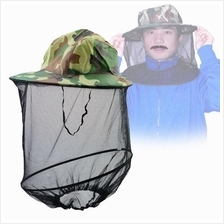 2PCS Set Anti Mosquito Bee Bug Mesh Mask Hat for Fishing Jungle Camp