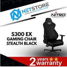 NITRO CONCEPTS S300 EX GAMING CHAIR (STEALTH BLACK) - NC-S300EX-BLACK