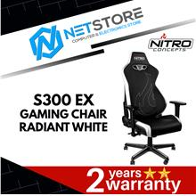 NITRO CONCEPTS S300 EX GAMING CHAIR (RADIANT WHITE) - NC-S300EX-BW