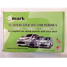 3 IN 1 ALARM BUZZER + FOOT BRAKE LOCK + DOUBLE SIGNAL PERODUA VIVA