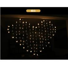 Romantic Love Heart Shape LED String Curtain Light for Bedroom