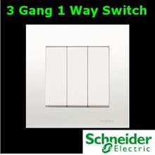 Schneider Vivace Series 3 Gang 1 Way Switch lighting fan Electrical AC