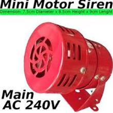 240V AC Mini Motor Siren LOUD Horn SOUND Security alarm system DIY