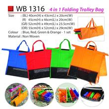 Set of 4 Bags Reusable Grocery Cart Shopping Trolley Bags