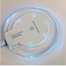 Universal QI Wireless Charger Charging Pad Fantasy High Efficiency Blu