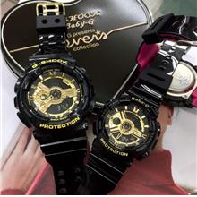 Casio G shock Couple Set Black Gold