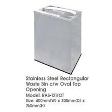 Stainless Steel Rectangular Waste Oval Opening 400WX300DX760H RAS121OT