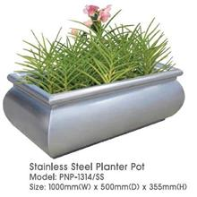 Stanless Steel Round Planter Pot 1000MM(W)X500MM(D)X355MM(H) PNP1314SS