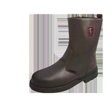 Black Hammer Safety Shoes Men High Cut Pull On Brown BH4665