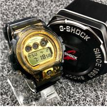 Casio G shock Dw6900 Black Gold Cermin Kaca