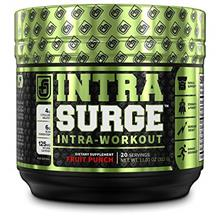 INTRASURGE Intra Workout Energy BCAA Powder - 6g BCAA Amino Acids, Natural Caf