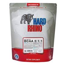 Hard Rhino BCAA 2:1:1 Instantized Powder, 1 Kilogram (2.2 Lbs), Unflavored, La