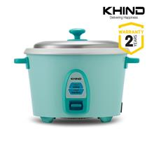 Khind 0.6L (4 Cups) RC806N Rice Cooker Optimal Keep Warm (Blue/Green)