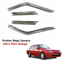 Car Air Press Window Door Visor Ultra Thin Slim Design Proton Saga Iswara (4PC
