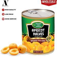 Virginia Green Garden Apricot Halves in Light Syrup 820g \u0623\u0646\u0635\u0
