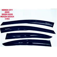 HONDA CITY 2009 DOOR VISOR MUGEN DESIGN 3 INCI