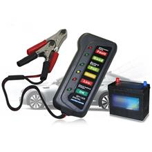 12V Digital Battery Alternator Tester 6 LED Lights Display For Cars Motorcycle