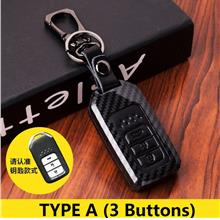 Honda Car Key Control Cover Carbon Leather City Civic Accord Jazz CRV HRV BRV