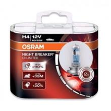 Osram Night Breaker Unlimited H4 Light Bulb 1Pair ( Made In Germany)