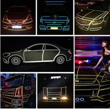 Car Motorcycle Reflective Strip Safety Warning Conspicuity Tape Sticker 1CMx5M