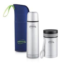 Thermos ThermoCafe Basic Living 1.0L Flask W/Pouch + 500ml Food Jar