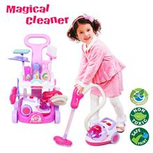 Little Helper Toys Real Vacuum Cleaner Cart LED Playset Pretend Play Toy