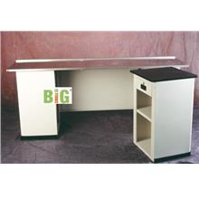 6Ft Cashier Counter Table With Small Table 1.5Ft White/Custom Color