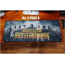 Large Extended Mousepad (80cm X 30cm) - BLACK RED PUBG RAZER