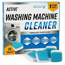 Washing Machine Cleaner Descaler 24 Pack - Deep Cleaning Tablets For HE Front