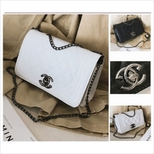 Elegant Black Chain GG Sling Shoulder Handbag