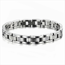 Youniq Magnetic Titanium Steel Silver Bracelet Health Chain For Men