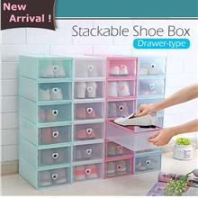 12 Units Shoe Box Drawer Multipurpose Storage Box Stackable Shoes Box Foldable