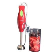2 in 1 Nutritional Factors Hand Blender Stainless Steel Chopper Juicer (Red)