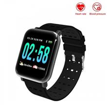 A6 Heart Rate Blood Pressure Monitor Sport Fitness Smart Watch For IOS Android