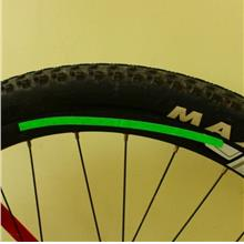 Bicycle Rim Reflector Fluorescent Cycling Wheel Reflective Stickers