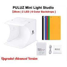 PULUZ 2 LED Light Photo 20cm Lighting Studio LightBox Shooting Tent Box Kit