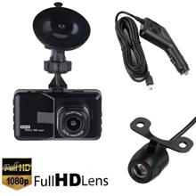 1080P FHD Dual Lens Car Rear View DVR Reversing Mirror Video Recorder Camera C