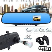 FHD 1080P In Car Rear View Mirror Dash DVR Recorder Camera Monitor