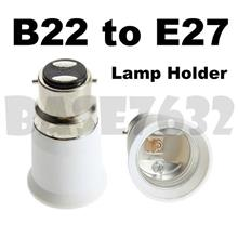 B22 Male to E27 Female Socket Base Light Bulb Adapter Holder 1618.1
