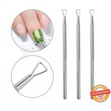 Nail Art Tool Stick Stainless Steel Dead Skin Remover Manicure Pedicure
