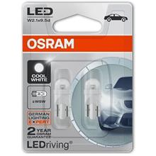 2 Pcs Osram T10 W5W 12V 6000K Cool White LED Bulb