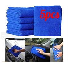 5 Pcs Durable Car Microfiber Cleaning Auto Soft Cloth Washing Cloth Towel Dust